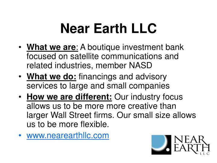 Near Earth LLC