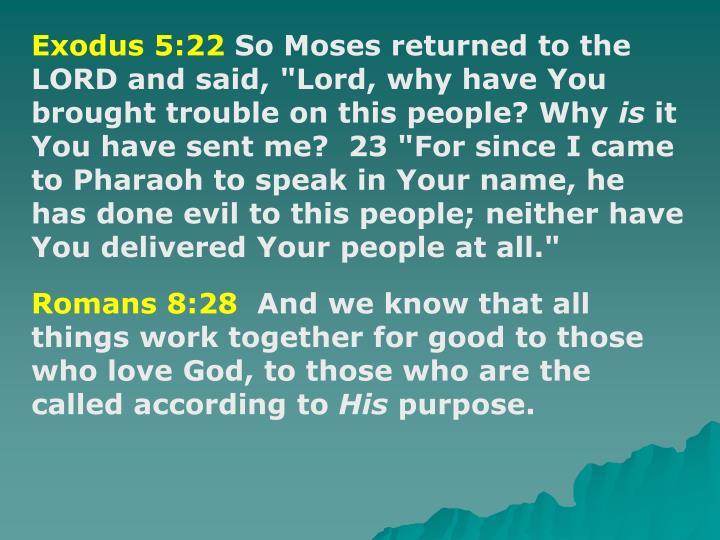 Exodus 5:22