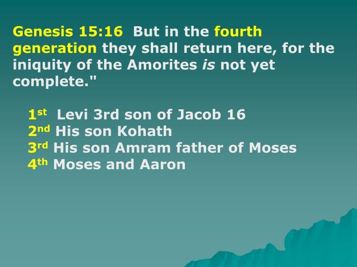 Genesis 15:16