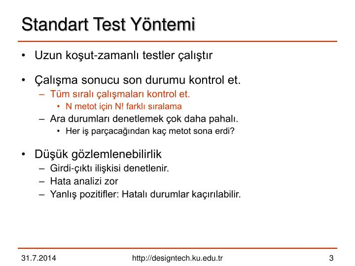 Standart Test Yöntemi