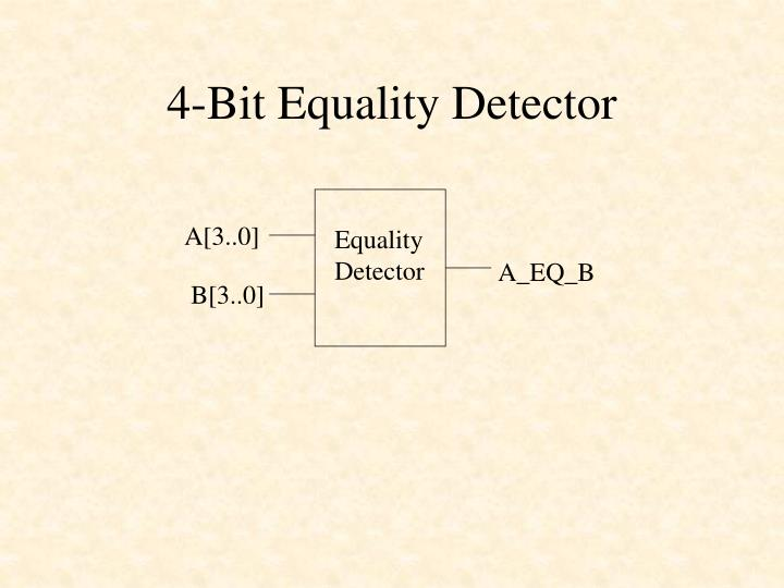 4 bit equality detector