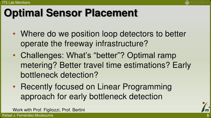 Optimal Sensor Placement