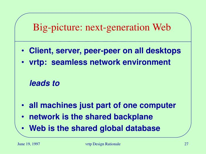 Big-picture: next-generation Web