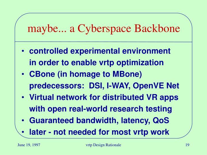 maybe... a Cyberspace Backbone