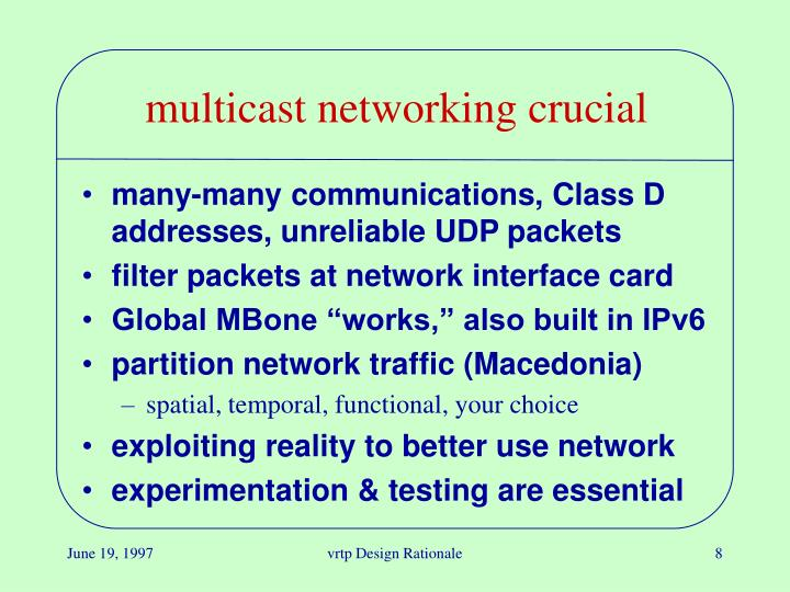 multicast networking crucial