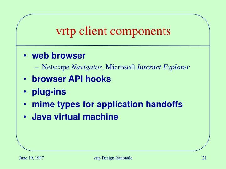 vrtp client components