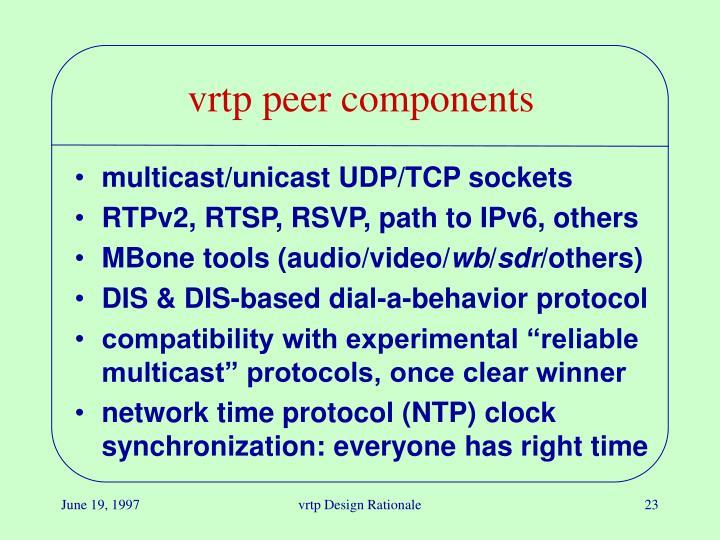 vrtp peer components