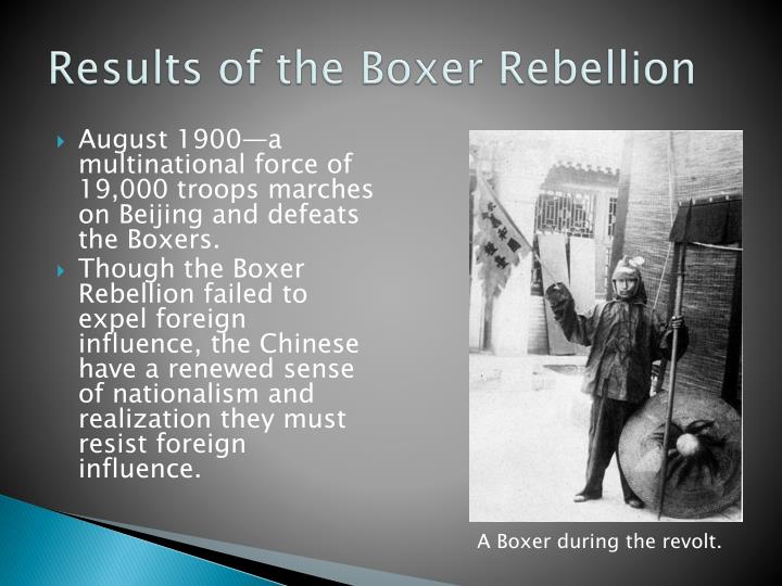 Results of the Boxer Rebellion