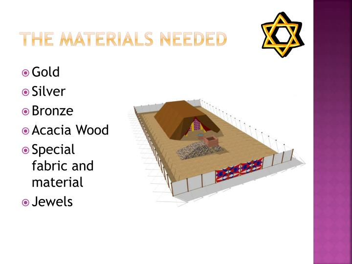 The Materials Needed