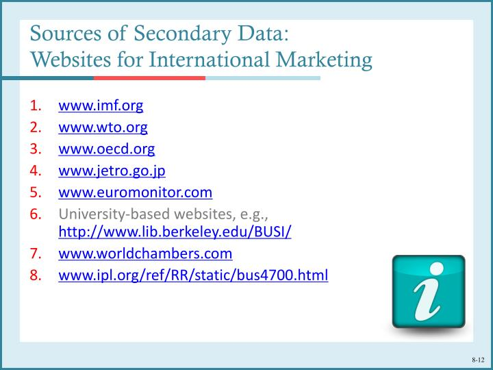Internal secondary research