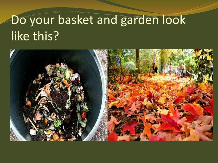 Do your basket and garden look like this
