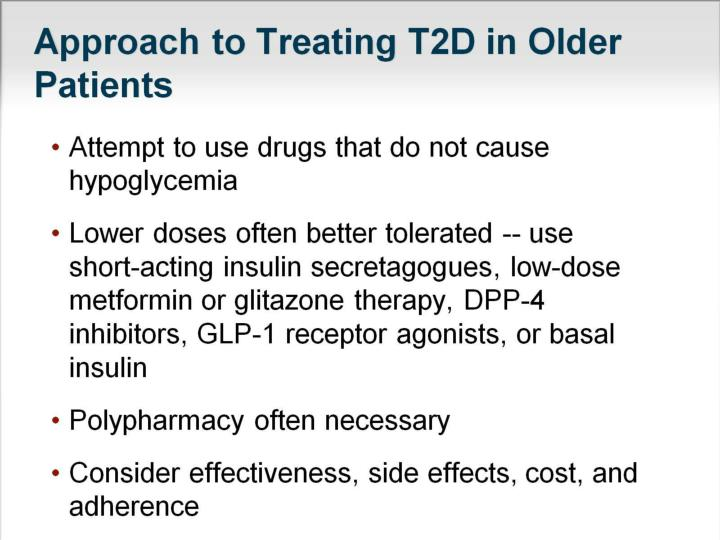 Approach to Treating T2D in Older Patients