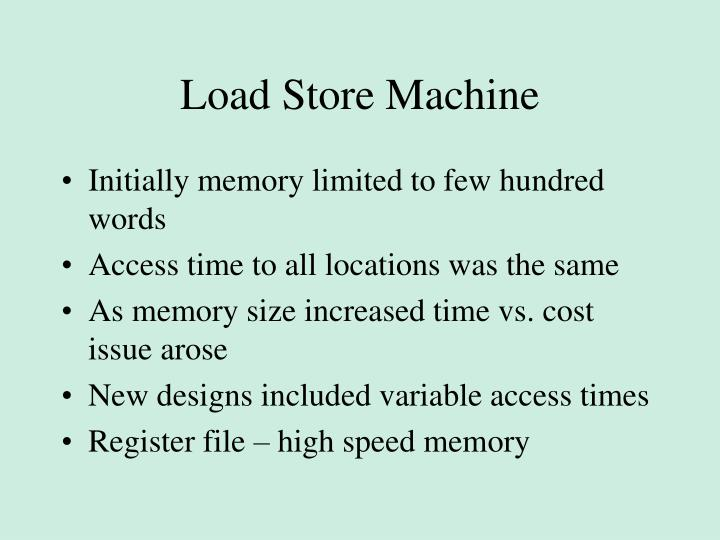 Load Store Machine