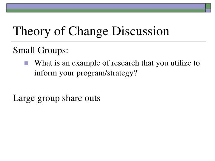 Theory of Change Discussion