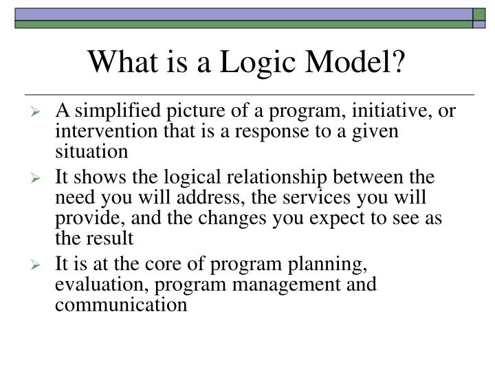 What is a Logic Model?