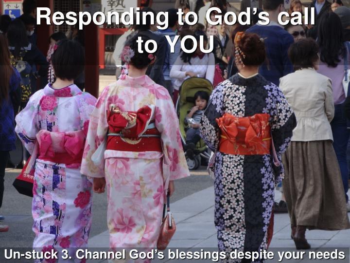 Responding to God's