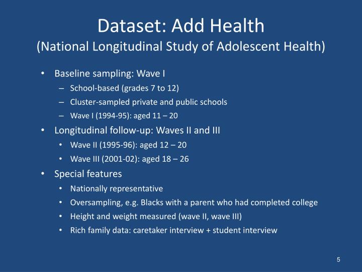 Dataset: Add Health