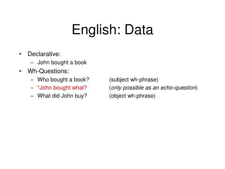 English: Data