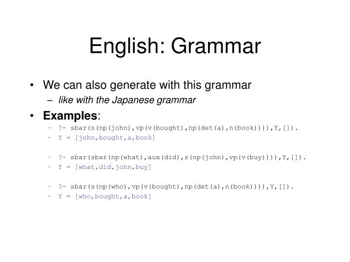 English: Grammar