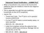 advanced tenant certification jasmin file