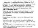 advanced tenant certification rosanna file