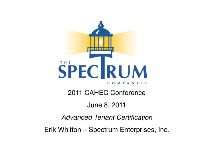 2011 CAHEC Conference