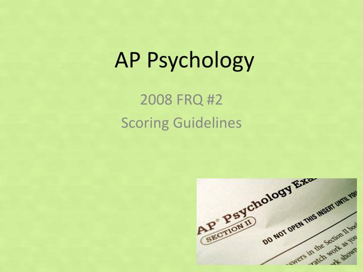 ap psychology applying to colleges