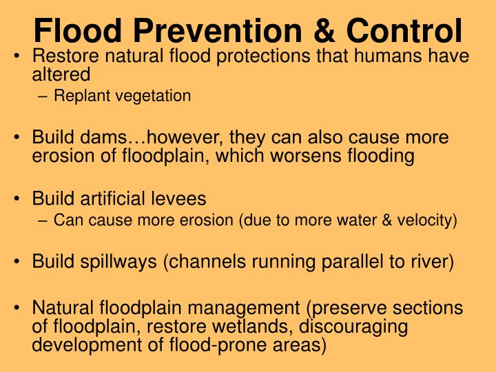Flood Prevention & Control