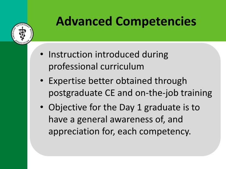 Advanced Competencies