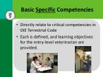 basic specific competencies
