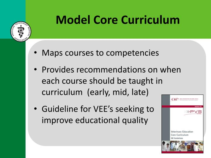 Model Core Curriculum