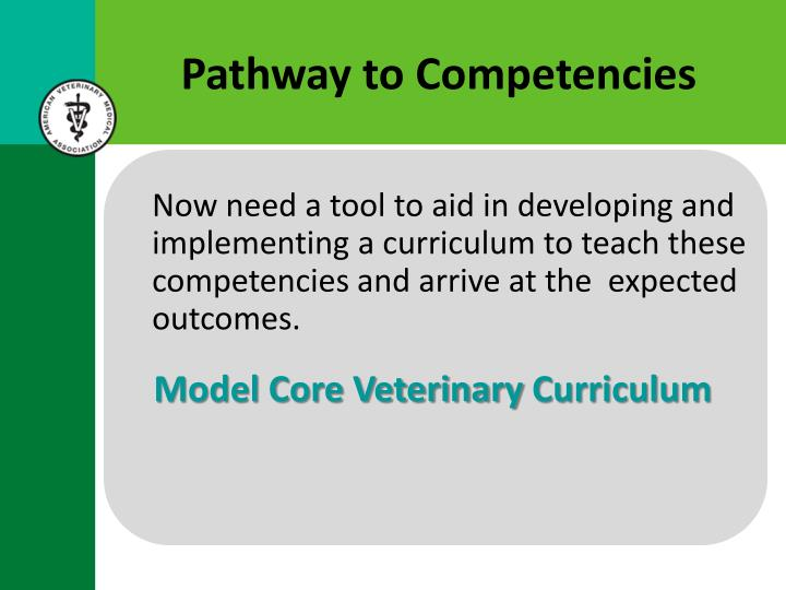Pathway to Competencies