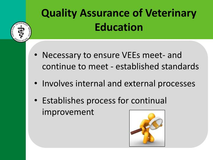 Quality Assurance of Veterinary Education