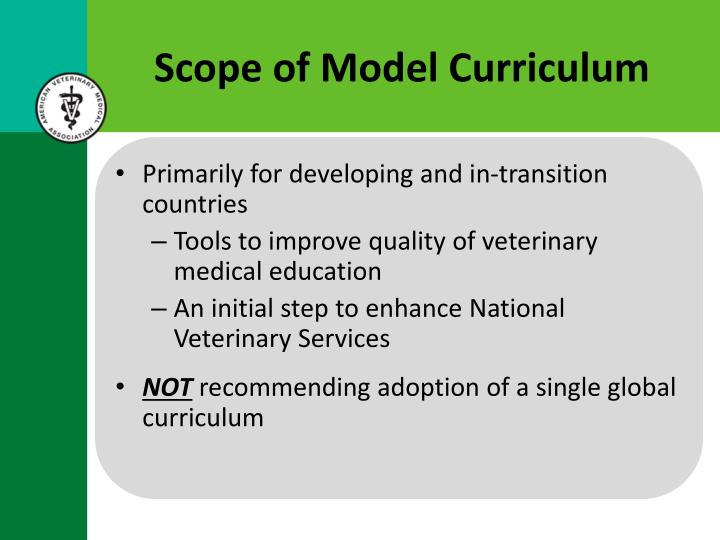 Scope of Model Curriculum