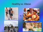 healthy vs obese