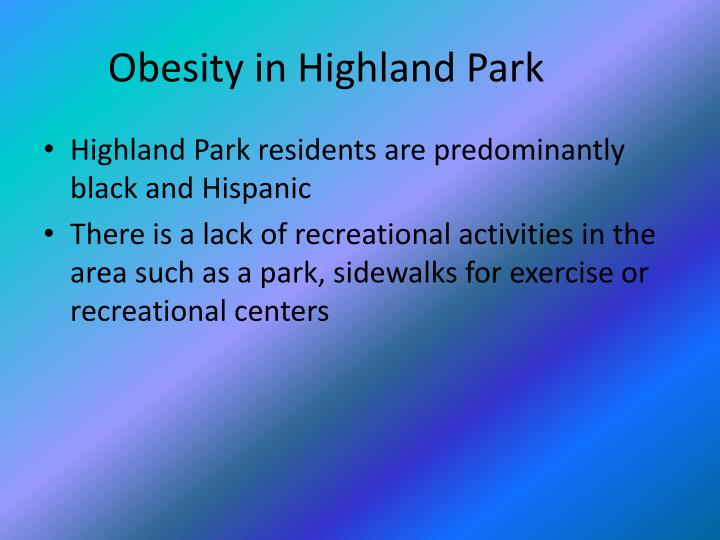 Obesity in Highland Park