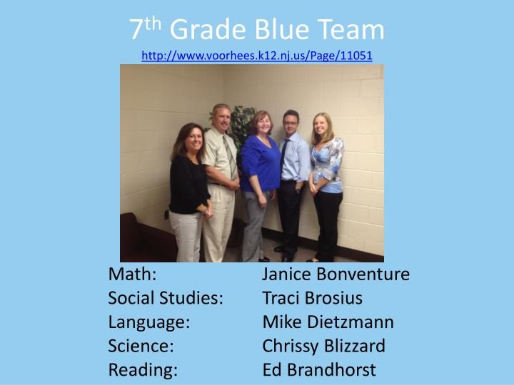 7 th grade blue team http www voorhees k12 nj us page 11051