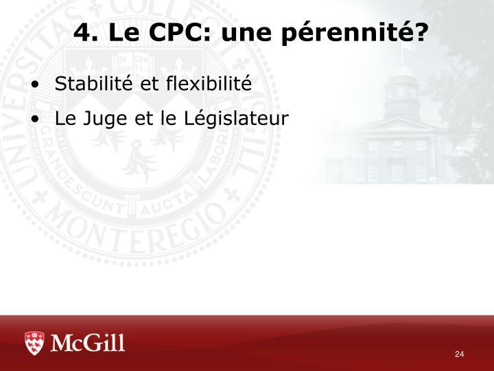 4. Le CPC: