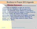 brothers in prayer 2013 agenda1