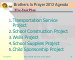 brothers in prayer 2013 agenda19
