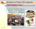 brothers in prayer 2013 agenda22