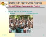 brothers in prayer 2013 agenda23
