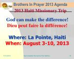 brothers in prayer 2013 agenda28