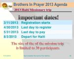 brothers in prayer 2013 agenda32