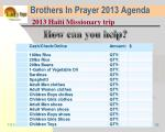 brothers in prayer 2013 agenda33
