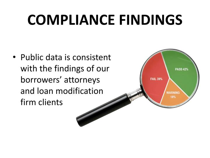 compliance findings