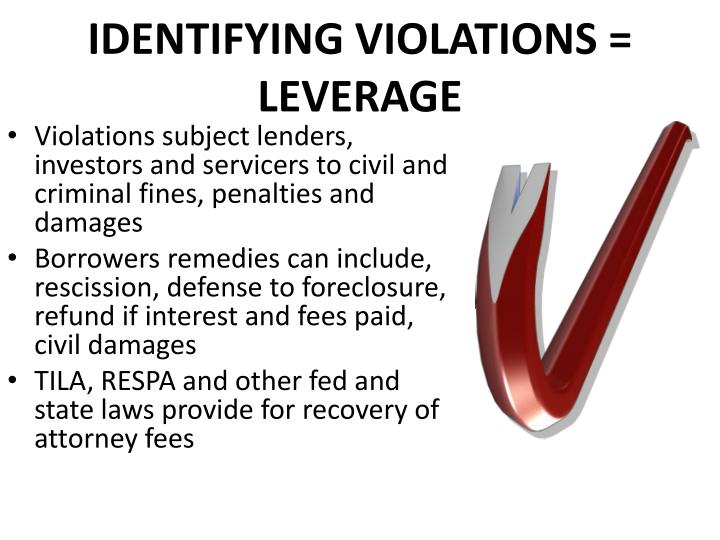identifying violations = leverage