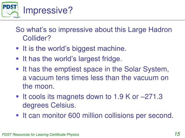 Impressive?