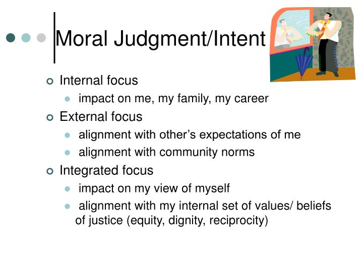Moral Judgment/Intent