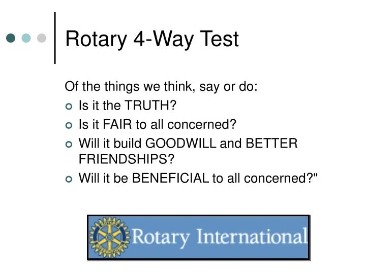 Rotary 4-Way Test